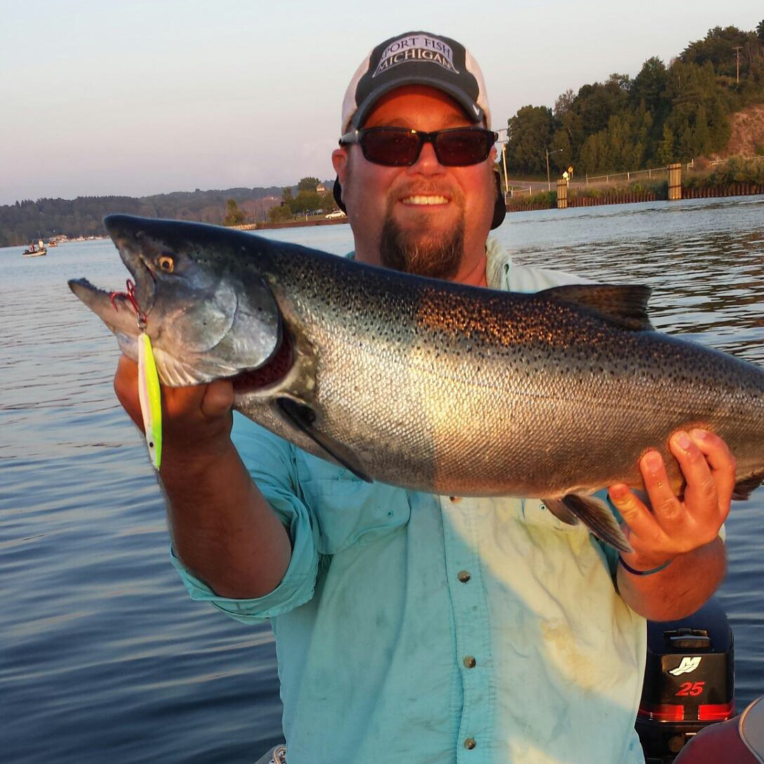 Official 2015 salmon jigging report thread michigan for Michigan dnr fishing reports